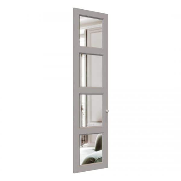 Edwardian Mirror wardrobe door in Pebble Grey