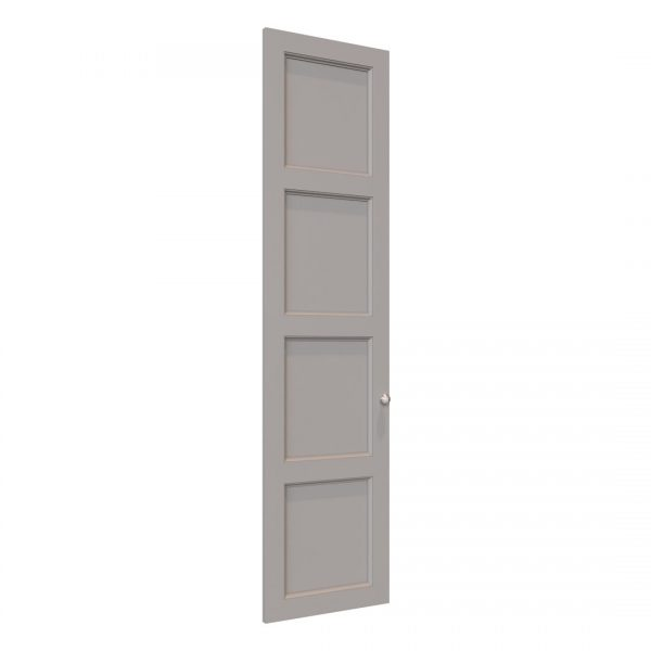 Edwardian wardrobe door in Pebble Grey
