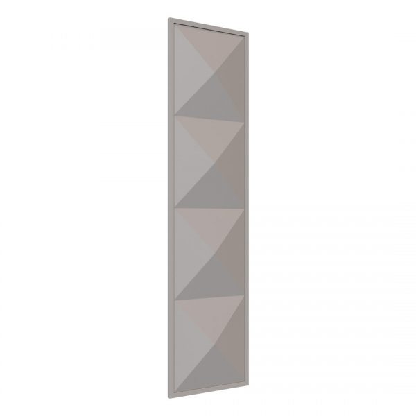 Pyramid wardrobe Door in Pebble Grey