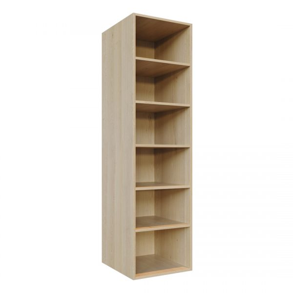 C4 carcass - Adjustable shelving unit (W500mm x H2000mm shown)